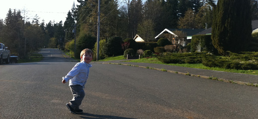 running in the streets